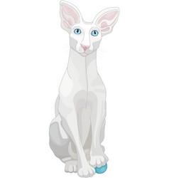 Ornate white cat vector