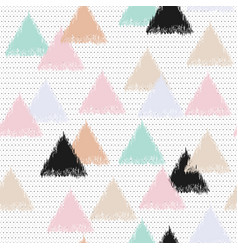 Pastel with triangles vector