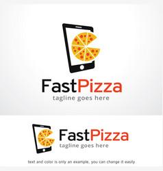 Pizza logo template vector