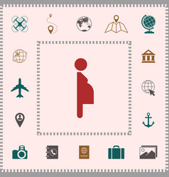 Pregnant woman icon elements for your design vector