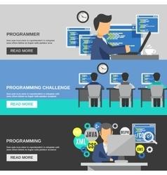 Programmer Banner Set vector image