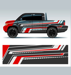 Racing car design vehicle wrap vinyl graphics vector