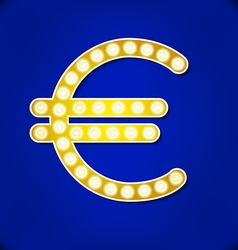 Reflector light euro symbol vector