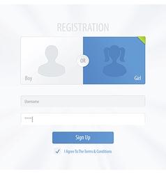 Registration form vector