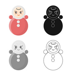 Roly poly cartoon icon for web and vector
