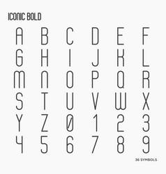 simple minimalistic font vector image