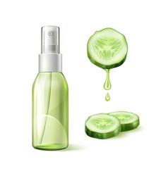 skin care cucumber moisturizer template 3d vector image