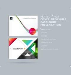 Soft design presentation template with colourful vector