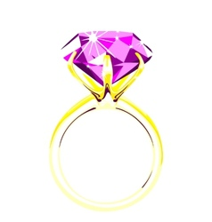 Solitaire - diamond ring vector