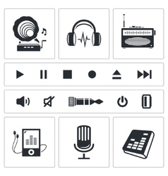 Sound and Music icon set vector