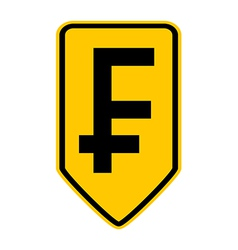 Swiss franc symbol button vector image