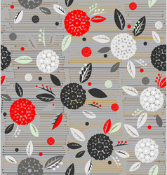 Traditional decorative flowers on a background of vector
