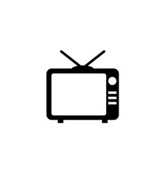 tv television flat icon vector image