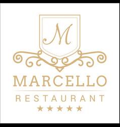 Vintage restaurant logo image vector
