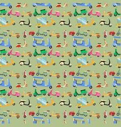 vintage transport pattern vector image