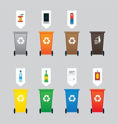 Waste or Garbage Bin Separation vector