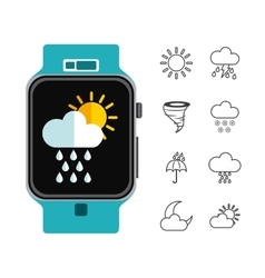 Weather symbols design vector