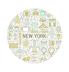 Web Banner or Emblem New York vector