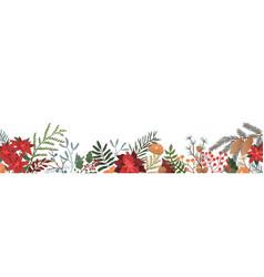 winter season botanical flat vector image