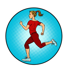 young woman running sports jog vector image