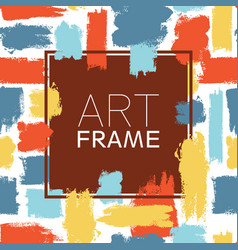 art frame square blue yellow red color elements vector image vector image