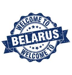 belarus round ribbon seal vector image vector image