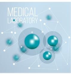 Biochemistry infographic design science vector image