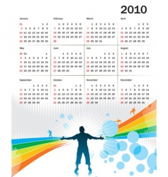 calendar for 2010 vector image