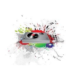 ink spat background vector image