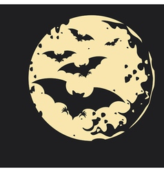Night Bat Background vector image vector image