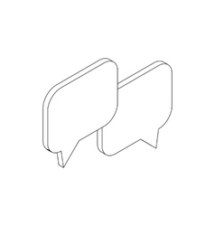 Speach bubles icon isometric 3d style vector image