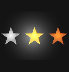 stars bronze silver and golden vector image vector image