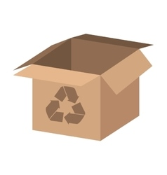 box carton with recycle symbol vector image