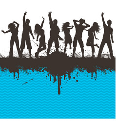 grunge party 2803 vector image vector image