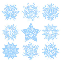 Set of winter snowflakes for christmas vector