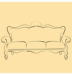 Sketched sofa couch vector image