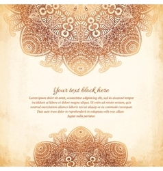 Vintage tribal style lacy abstract background vector image vector image
