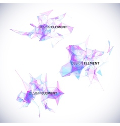 Collection abstract geometric backgrounds vector image