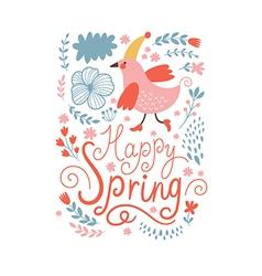 Happy spring vector