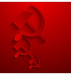 modern sickle and hammer symbol background vector image