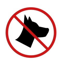 No Dogs allowed forbidden sign on white vector image vector image
