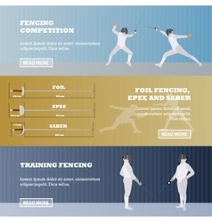 set of sport fencing banners Games vector image vector image