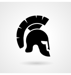 Silhouette of an ancient Roman or Greek helmet vector image vector image