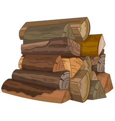 The logs of fire wood vector