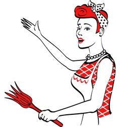 Vintage Advertising Woman design vector image vector image