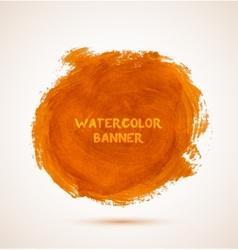 Abstract circle orange watercolor hand-drawn vector image