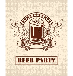 beer and malt vector image