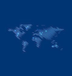blurred blue world map vector image
