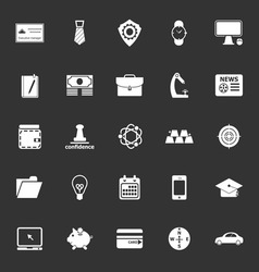 Businessman item icons on gray background vector image vector image