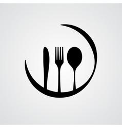 Cutlery black vector image vector image